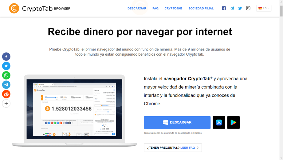 Como descargar Cryptotab Browser